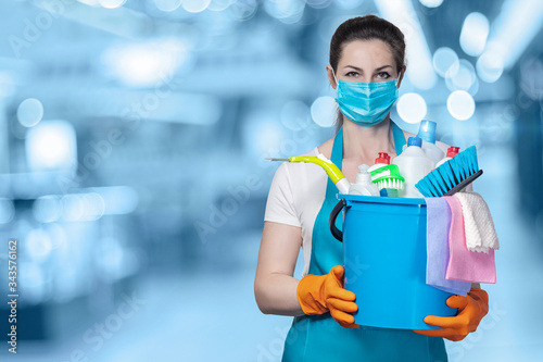 The concept of disinfection and cleaning. Canvas Print