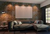 Living Room Horizontal Frame Mockup - 343578317