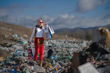 Modern Woman On Landfill, Cons...