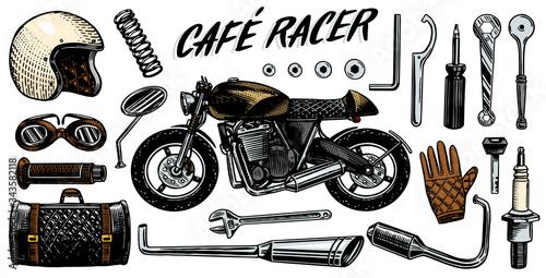 Motorcycle repair Wallpaper Mural