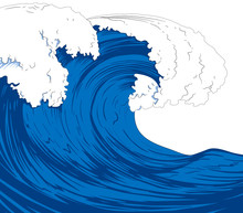 Illustration Of Giant Sea Waves