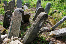 Old Abandoned Jewish Cemetery In Ukraine