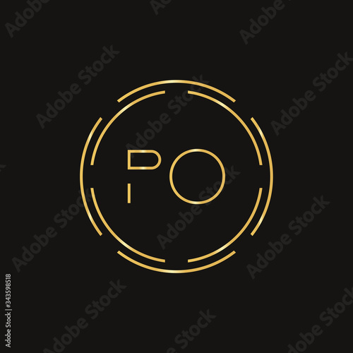 Initial Letter PO Logo Design Vector Template Canvas Print