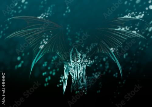 фотография lovecraft cthulhu ocean depths monster