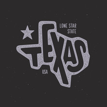 Texas Related T-shirt Design. ...