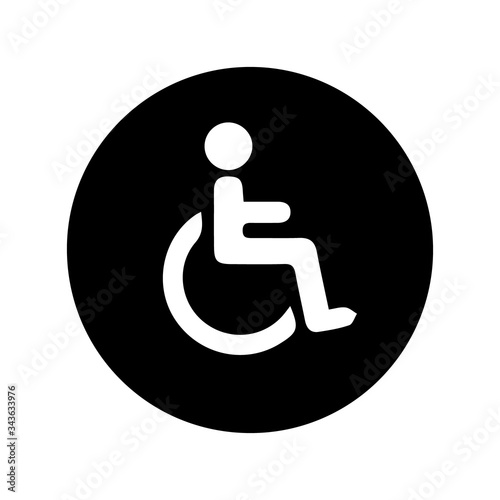 Disabled person and wheelchair / handicapped access sign Canvas Print