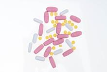 Pills Spilling Out Of Pill Bot...