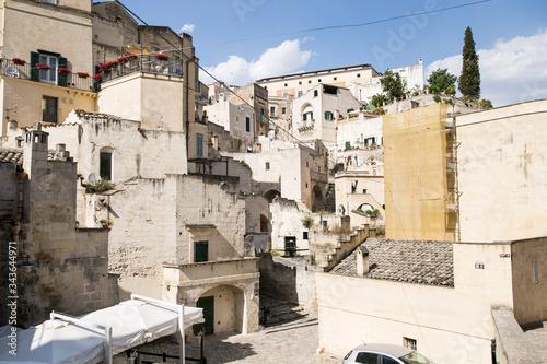 Beautiful italian city view of Altamura italian medieval arhitecture Canvas Print