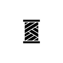 Yarn Spool Vector Icon, Yarn S...