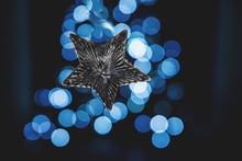 Close-up Of Christmas Star Aga...