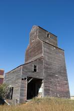 Tall Rustic Old Grain Elevator