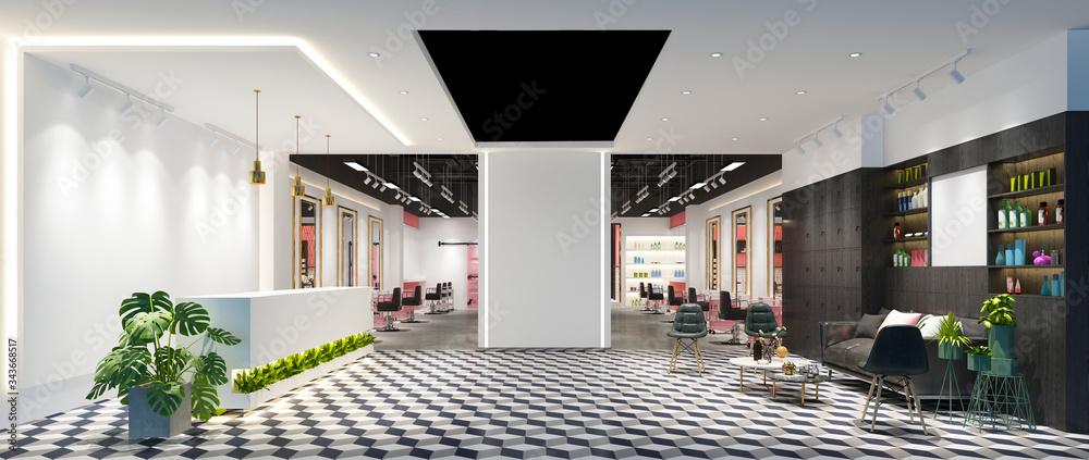 Fototapeta 3d render of luxury fashion shop