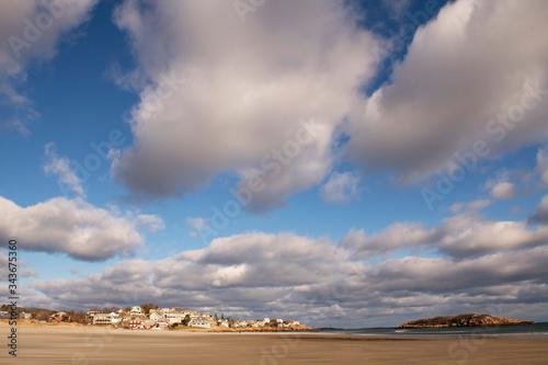 Beautiful clouds over beach in Gloucester, Massachusetts Slika na platnu