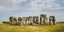 View Of Stonehenge Against Cloudy Sky