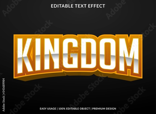 Fotografie, Tablou kingdom esport team logo text effect template with 3d bold style use for logo an