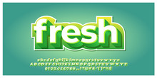 Fresh Green And White 3d Font ...
