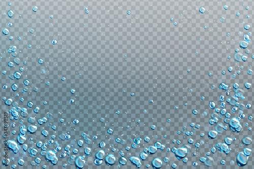 Fotomural Air bubbles, effervescent water fizz border