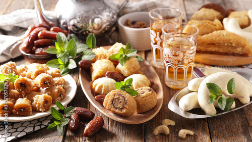 assorted of oriental pastries Canvas Print