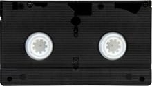 Old Black VHS Video Tape Cassette