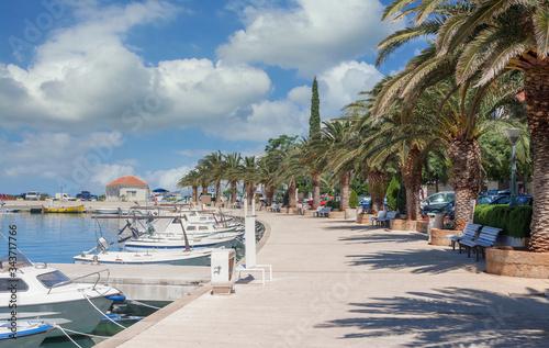 Photo Promenade in Baska Voda an der Makarska Riviera,Adria,Dalmatien,Kroatien