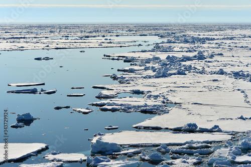 Valokuvatapetti wilczek glacier melting under the impact of global warming