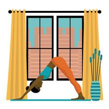 Yoga Home Concept. Yong Africa...