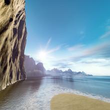 Beautiful Rock Face Ocean Scen...