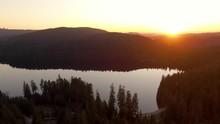Aerial View Of Beautiful Lake ...
