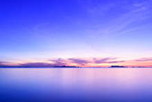 Beautiful Beach Sunset With Bl...