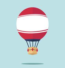Hot Air Balloon  Flat Vector V...