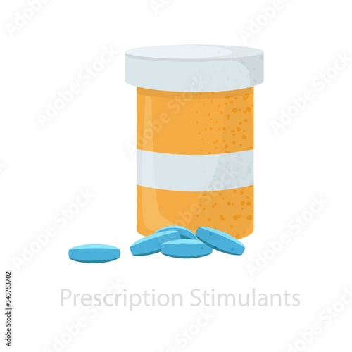 Antidepressant tablets and a jar for their storage Wallpaper Mural