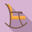 Rocking chair icon. Flat illustration of rocking chair vector icon for web design