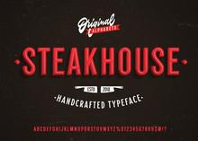 Steakhouse. Vintage 3d Premium...