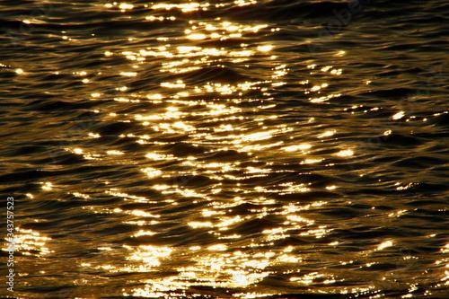 Morze o zachodzie słońca
