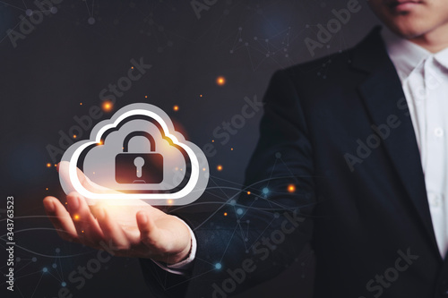 Photo security lock cyber is a key safe device protection upload backup data on the cloud keep for privacy database