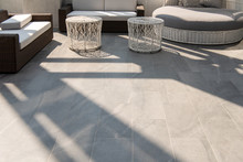 Beautiful Terrace, Grey Floor Tile Outdoor.
