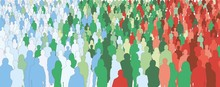 Infographics Of A Crowd Of Peo...
