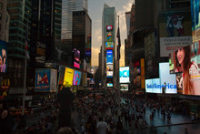 Crowd At Time Square
