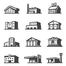 Public Building Icon Set, Arch...