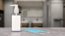 Hand Sanitizer Gel In A Plasti...