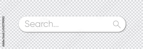 Obraz Search bar, search boxes with shadow on transparent background - stock vector. - fototapety do salonu