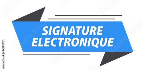signature électronique bannière Canvas Print