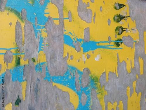 Full Frame Shot Of Peeled Wooden Wall