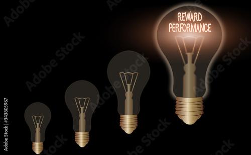 Photo Word writing text Reward Performance