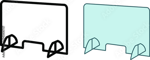 Foto Counter Protector Barrier icon, Cashier Guard icon