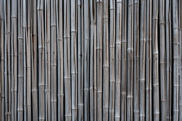 古い竹の塀
