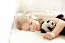 Closeup Of Little Girl Sleepin...