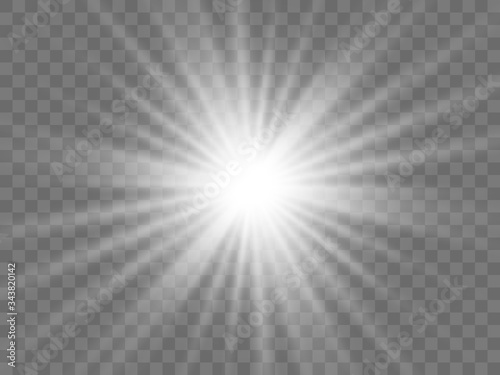 Sunlight on a transparent background Canvas-taulu