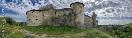 The architecture of the old fortress on the mountain Canvas Print