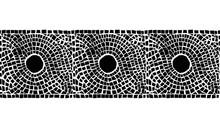 Seamless Geometric Roman Mosaic Tile Pattern